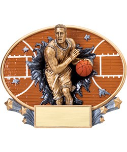 Basketball Plaque Male | Laserworx Custom Engraving