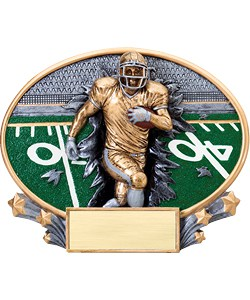 Football Plaque | Laserworx Custom Engraving