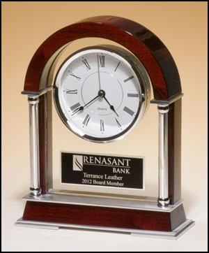Engraved Mantle Clock | Laserworx Custom Engraving Pottstown