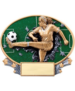 Soccer Plaque Female | Laserworx Custom Engraving