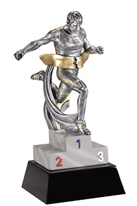 Track Male Trophy | Laserworx Custom Engraving