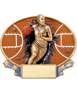 Basketball Plaque Female | Laserworx Custom Engraving