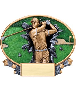 Golf Plaque Men | Laserworx Custom Engraving