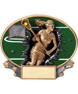 Lacrosse Plaque Female | Laserworx Custom Engraving
