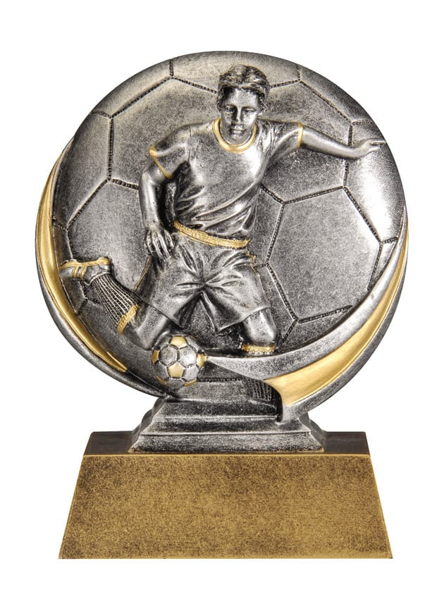 Male Soccer Resin Sculpture | Laserworx Custom Engraving