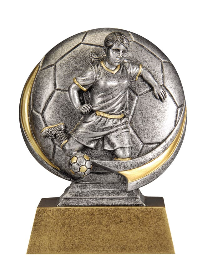 Female Soccer Resin Sculpture | Laserworx Custom Engraving
