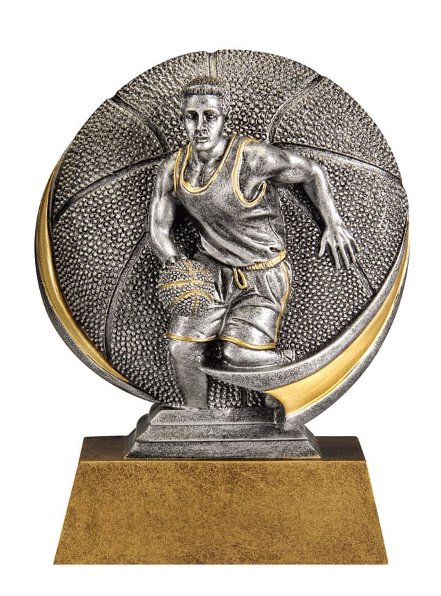 Male Basketball Resin Sculpture | Laserworx Custom Engraving