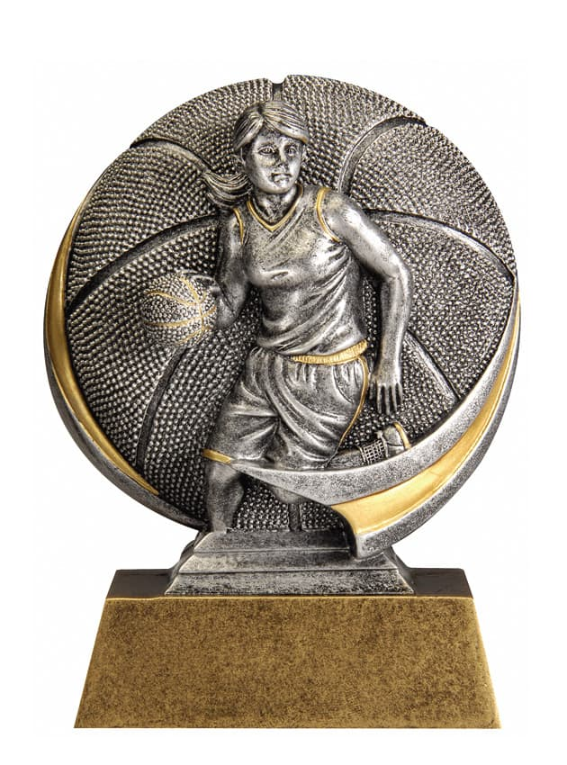 Basketball Female Resin Sculpture | Laserworx Custom Engraving