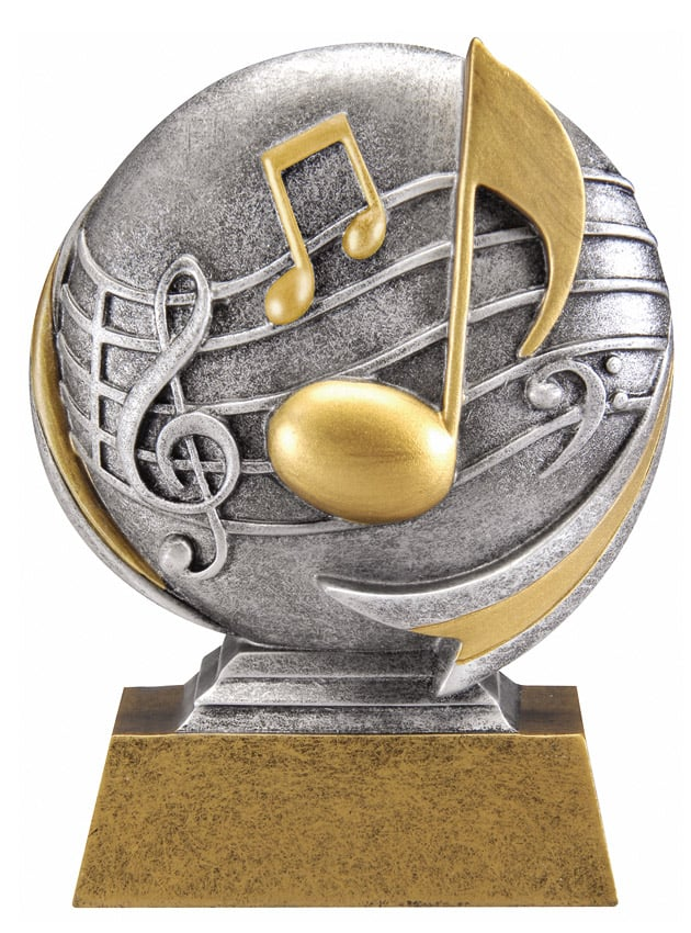 Music Resin Sculpture | Laserworx Custom Engraving