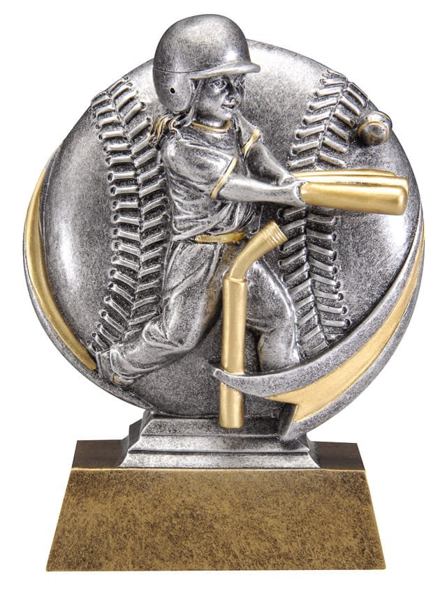 T-Ball Female Resin Sculpture | Laserworx Custom Engraving
