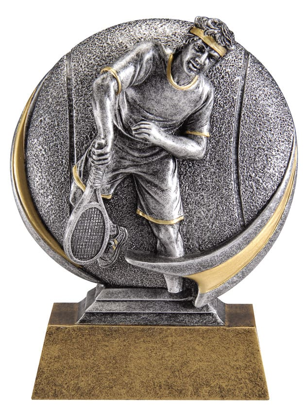 Male Tennis Resin Sculpture | Laserworx Custom Engraving