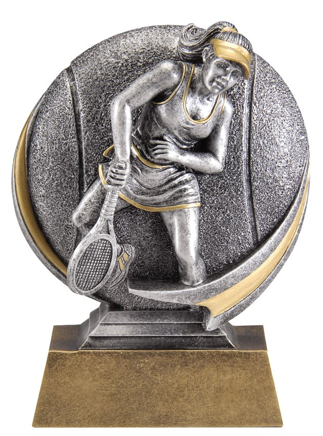 Female Tennis Resin Sculpture | Laserworx Custom Engraving