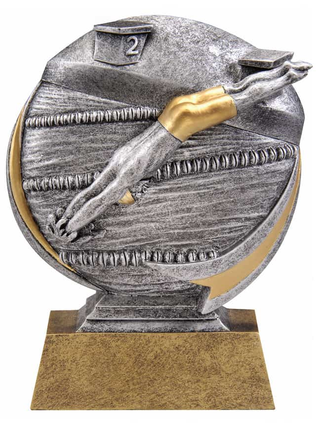 Male Swimming Resin Sculpture | Laserworx Custom Engraving