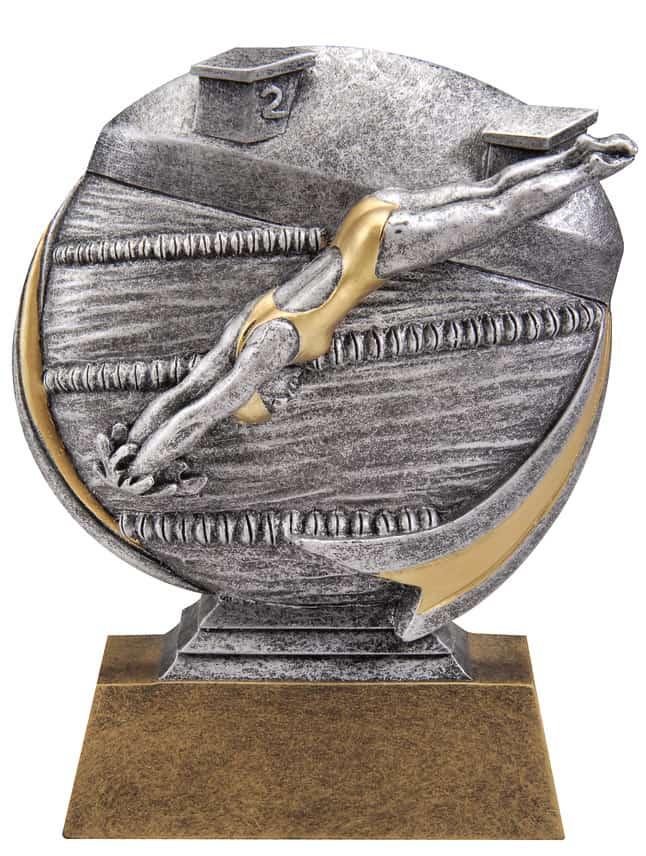 Female Swimming Resin Sculpture | Laserworx Custom Engraving