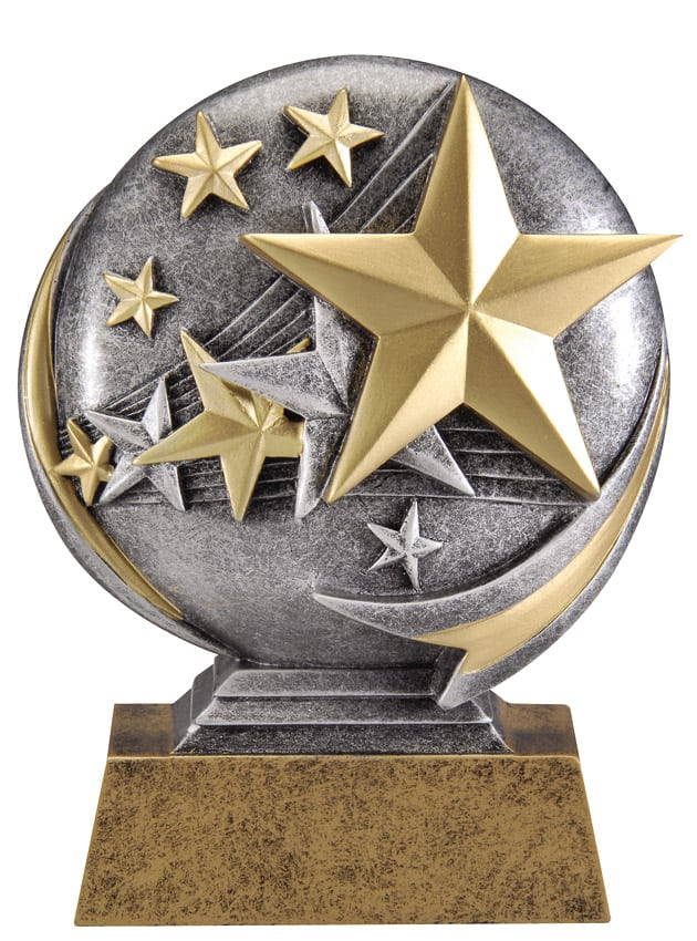 Stars Resin Sculpture | Laserworx Custom Engraving