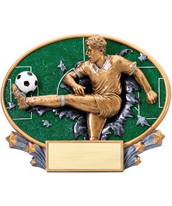 Soccer Plaque Male | Laserworx Custom Engraving