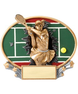 Tennis Plaque Female | Laserworx Custom Engraving