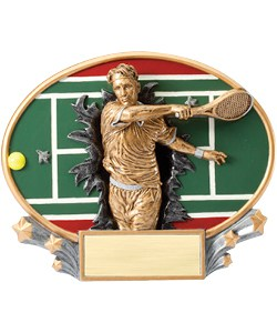 Tennis Plaque Male | Laserworx Custom Engraving