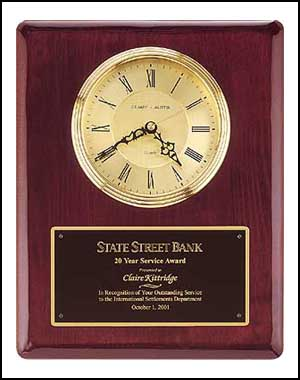 Vertical Engraved Wall Clock | Laserworx Custom Engraving Pottstown
