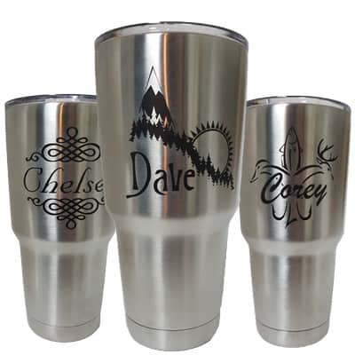 engraved stainless steel tumblers | Laserworx Custom Engraving